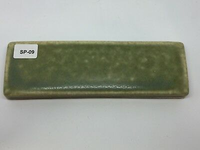 SP-09 Sage Green Vintage 1 7/8 x 6 Antique Fireplace Mantle Tile Trim