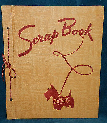 Awesome Old Antique/vintage Scotty Dog Scrap Book Album!! Bird Pictures!