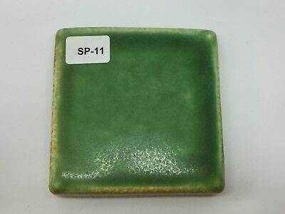 "SP-11 Bright Green Vintage 2 7/8"" Antique Fireplace Mantle Tile"