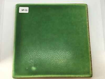"SP-13 Forest Green Vintage 6x6"" Antique Fireplace Mantle Tile"