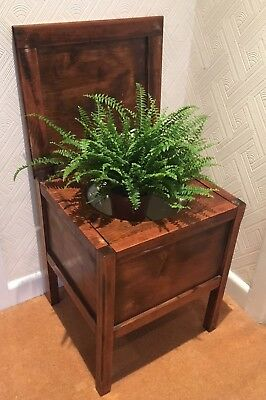 Vintage WW2 era commode - great plant pot or prop! (ref 18.5.066)