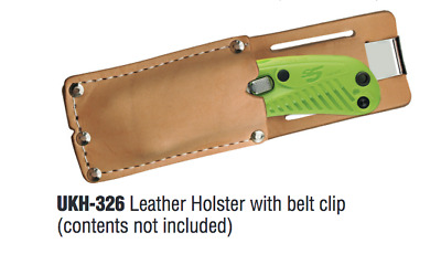 PACIFIC HANDY CUTTER Leather Holster ONLY 1 each for Safety Box Cutters