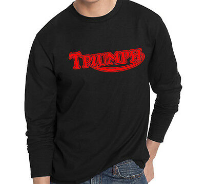 Triumph Long Sleeve T-Shirt Biker Motorcycle Rider small to 3XL