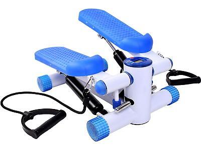 GYMAX Aerobic Exercise Mini Stepper Swing Machine Ropes Fitness Workout Cord Leg