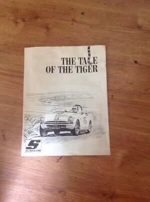 """Vintage 1964 - 66 Sunbeam Tiger Company Brochure - """"THE TALE OF THE TIGER"""""""