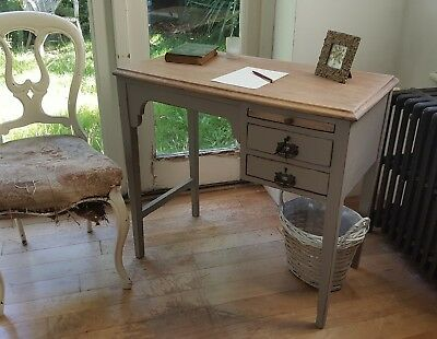 Pretty Arts and Crafts Painted Vintage Shabby Chic Desk Farrow & Ball