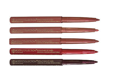 Body Collection Lip Liner Pencil Crayon Retractable Twist Up Red Pink Nude Plum