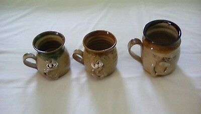 Three Ugly Mugs As Nice Trio From The Pretty Ugly Pottery, Wales