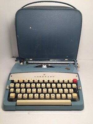 Vintage Coronado typewriter TY4-5135 by brothers industries with original case