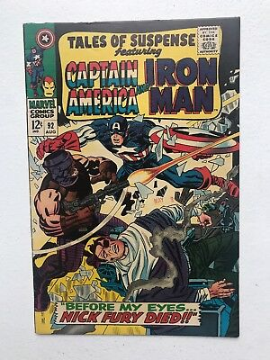 Tales Of Suspense 92 Fine+ 1967 OW