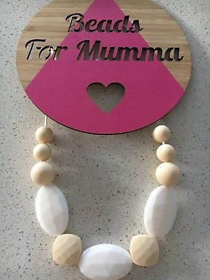 Silicone Necklace Sensory (was teething) Beads For Mum Jewellery Aus Gift 🎁