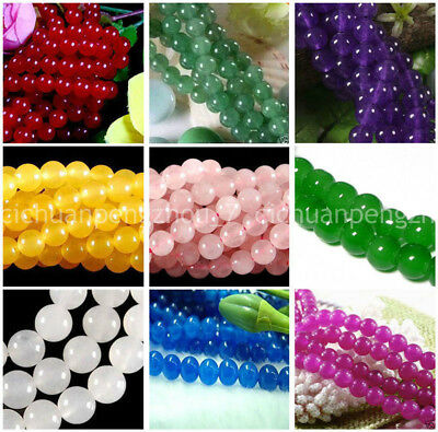 Series I lot natural gemstone spacer loose beads 4mm 6mm 8mm round stone 15""