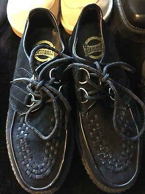 demonia creepers black suede size 6