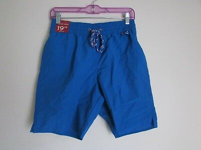 287b51cdff Merona Board Shorts Size Small mens Blue Swim Trunks Suit Elastic Waist NEW  NWT