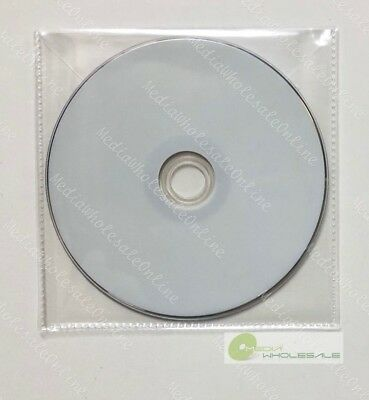 100 CD DVD CPP Clear Plastic Sleeve with Flap and stitching on borders 65micron