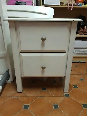 Timber Bedside Table with 2 drawers