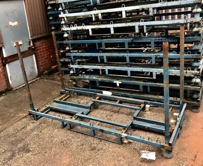 long steel pallet stackable stillage motorcycle post cage