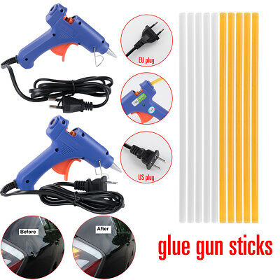 20w Hot Glue Gun + 7mm Melt Glue Sticks US EU plug Car Autos Dent DIY Repair Kit