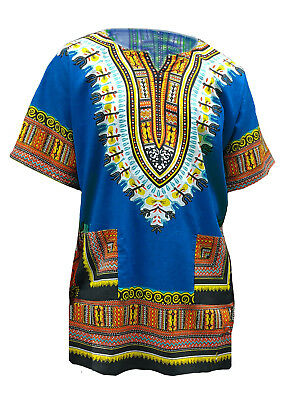 Blue African Unisex Dashiki Shirt DP3751 Small to 7XL Plus Size