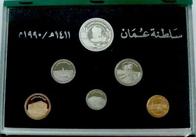 Oman 6 Coins, 20Th National Day Anniversary, Proof Issue 1990