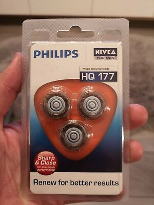 Brand New Philips Nivea For Men HQ177/40 Replacement Shaving Heads *2 Sets Left*