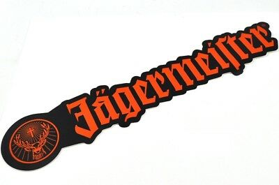 Jägermeister Hirsch Rudi Logo USA 30 cm Aufkleber Sticker orange