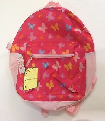 "15"" BUTTERFLIES Butterfly BACKPACK School Book Bag Pre-K Toddler CANVAS Tote sac"