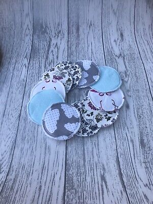 7 Pairs - Reusable Breast Pads Nursing Maternity Absorbent Washable Pad