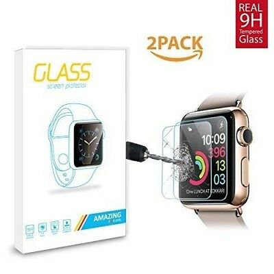 Screen Protector For Apple Watch Series 3 Anti Scratch Tempered Glass 2 Pack