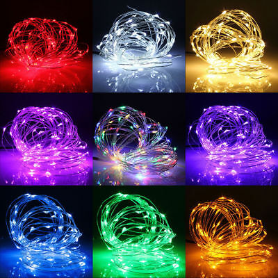 10M 100 LEDs Operated Mini LED Copper Battery Wire String Fairy Lights Party