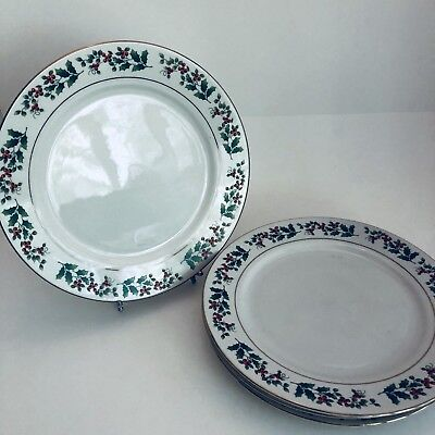 EVERYDAY GIBSON CHINA - Christmas Holly & Berry - Dinner Plate - 10 ...