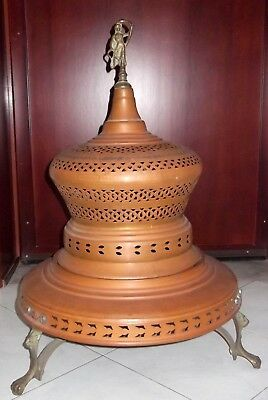 "Antique Large Copper Brass Brazier rare 31,5"" Liberty Italy"