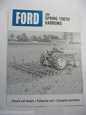 1960's Ford 206 Spring Tooth  Harrows Sales Brochure Vintage Original
