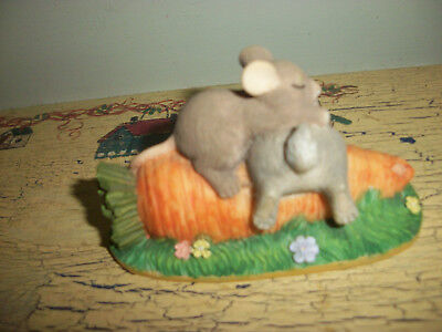 Sweet Little Charming Tails Figurine Entitled After Lunch Snooze  Dean Griff