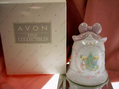 Avon PORCELAIN BELL Precious Moments 97 XMAS LTD   NIB * FREE SHIP