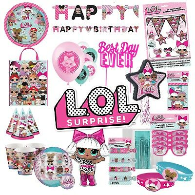 LOL Surprise Birthday Party Supplies Decoration Tableware Balloons