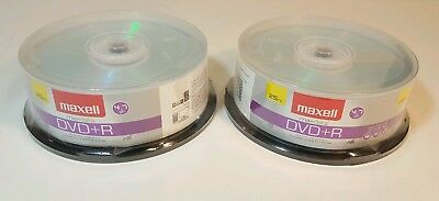 50 Pack Maxell DVD+R 4.7GB, 16x, Write-Once Recordable Disc (2 Packs of 25)