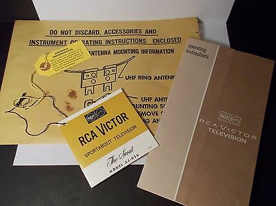RCA Victor Sportabout Television AJ-026 - Paperwork, Instructions, Antenna Only