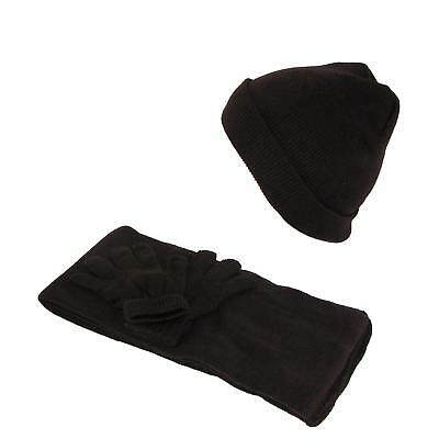 New CTM Kids' Stretch Hat Gloves and Scarf Winter Set