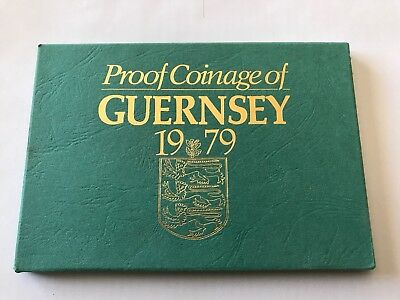 1979 Proof Set Coinage Of Guernsey 6 Coins