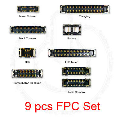 For iPhone 7 PLUS Logic Board Full Complete FPC Connector Terminal 9 Pcs Set