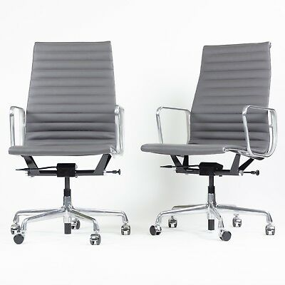 Amazing 2018 Eames Herman Miller Leather High Executive Aluminum Ncnpc Chair Design For Home Ncnpcorg