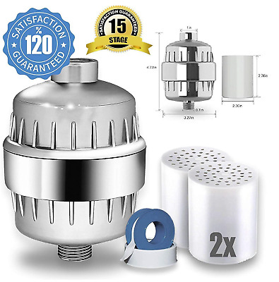 Universal Filter for Shower Head with Replaceable 2 Cartridges
