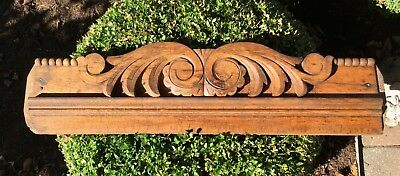 Antique Oak Door Lintel Pediment Architectural Salvage