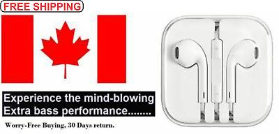 Earbuds For Apple Earphones Headphones For IPhone 6 6S/5S/4S  with Remote & Mic