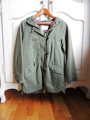 Zara Girls Kahki cotton hooded winter Jacket/coat size 13/14 (164 cm)