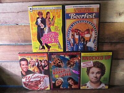 5 DVD Lot WAITING Austin Powers BEERFEST Dazed & Confused KNOCKED UP