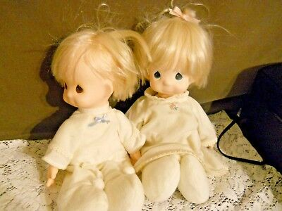 Precious Moments Dolls (Boy and Girl), Stuffed Bodies, Clean and Adorable