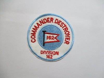 Patch_ US Navy COMMANDER DESTROYER DIVISION 162 Patch