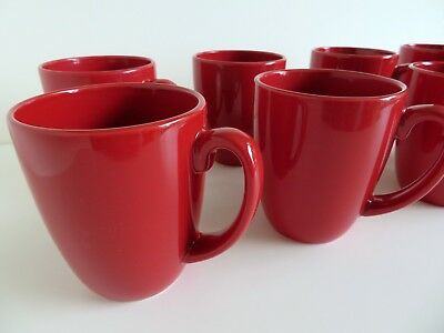CORELLE HEARTHSTONE STONEWARE: Set Of 4 Coffee Mugs: Chili Red Or ...